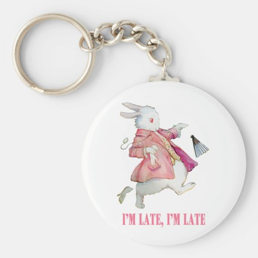 I'M LATE, I'M LATE, FOR A VERY IMPORTANT DATE! KEY CHAINS