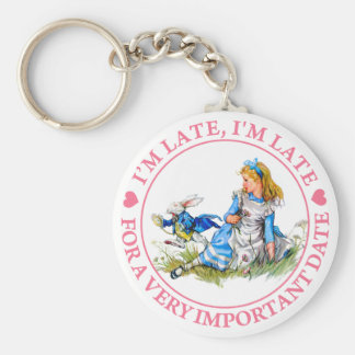 I'M LATE, I'M LATE, FOR A VERY IMPORTANT DATE! KEY RING
