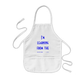 I'm learning from the best--my Dad Kids Apron