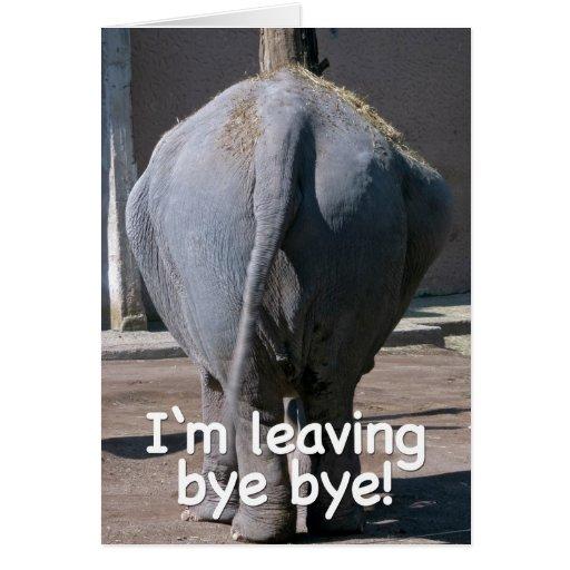 I'm leaving greeting card
