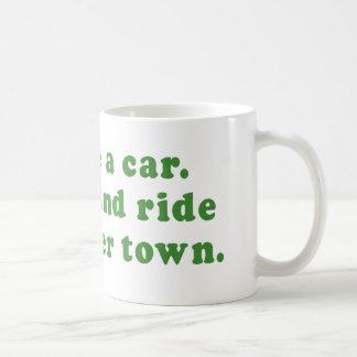 IM LIKE A CAR - WAX ME AND RIDE ME ALL OVER TOWN BASIC WHITE MUG