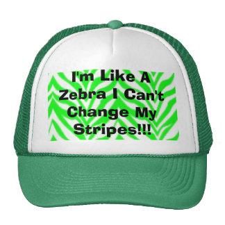 I'm Like A Zebra I Can't Change My Stripes!!! Cap