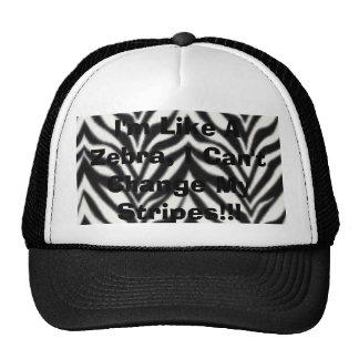 I'm Like A Zebra, I Can't Change My Stripes!!! Mesh Hats