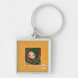 im link Silver-Colored square key ring