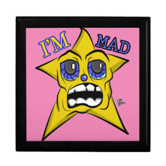 I'm Mad Blue Eyes Yellow Star Large Square Gift Box