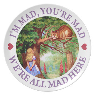 I'm Mad, You're Mad, We're All Mad Here! Plate