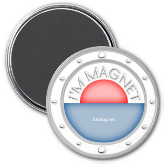 I'M MAGNET - Large, 7.6 Cm Round Magnet