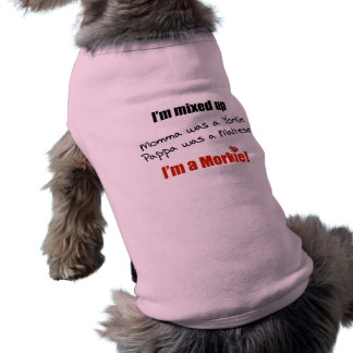 I'm  mixed up - I'm a Morkie! Sleeveless Dog Shirt