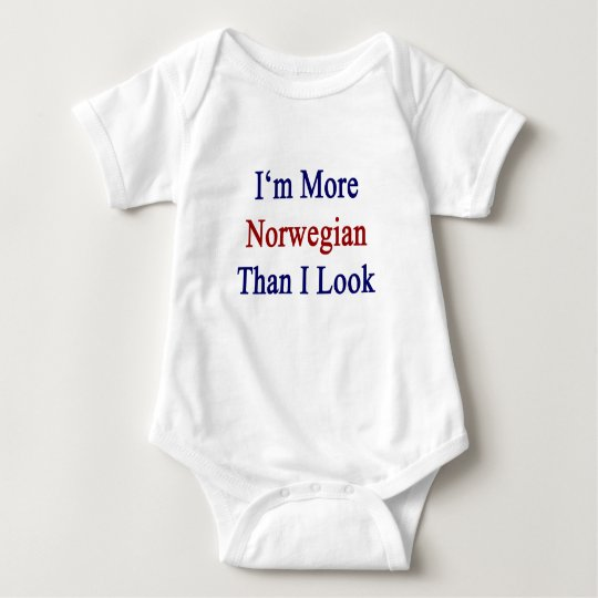 I'm More Norwegian Than I Look Baby Bodysuit