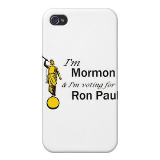 I'm Mormon, and I'm voting for Ron Paul! iPhone 4 Cover