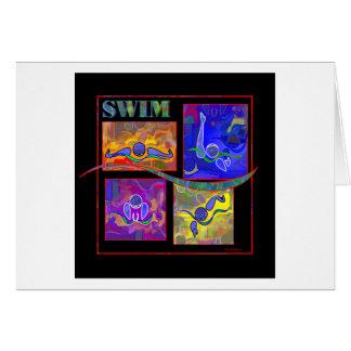 IM Morning swim greeting card
