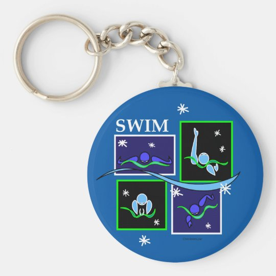 IM Morning Winter Basic Round Button Key Ring