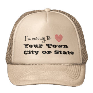 I'm Moving To... Personalized Cap