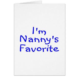Im Nannys Favorite Blue Greeting Card