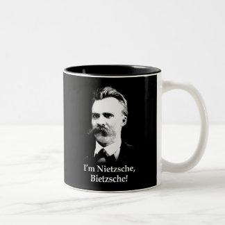 I'm Nietzsche, Bietzsche! Two-Tone Mug
