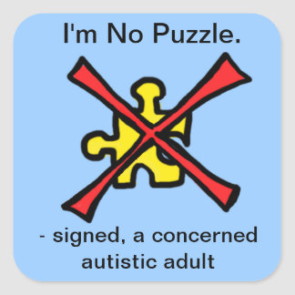 I'm No Puzzle Square Sticker
