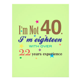 I'm Not 40 - Funny Birthday Gift 21.5 Cm X 28 Cm Flyer