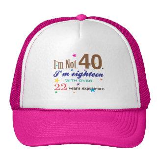 I'm Not 40 - Funny Birthday Gift Hats