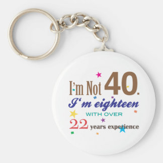 I'm Not 40 - Funny Birthday Gift Key Ring