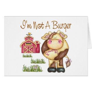 I'm Not A Burger Vegan/Vegetarian Greeting Card