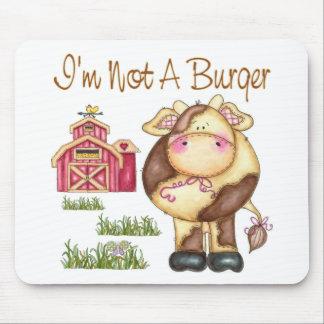 I'm Not A Burger Vegan/Vegetarian Mousepad