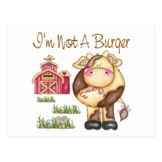 I'm Not A Burger Vegan/Vegetarian Postcards