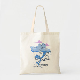 I'm not a girl tote bag