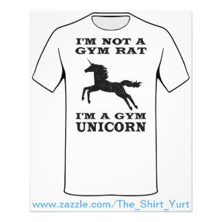 I'm Not A Gym Rat I'm A Gym Unicorn 11.5 Cm X 14 Cm Flyer