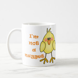 I'm Not A Nugget Vegan/Vegetarian Mug/Cup Basic White Mug