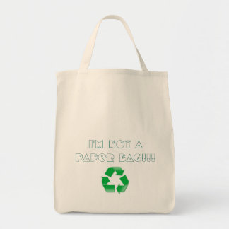 I'm not a paper bag, recycling tote bag