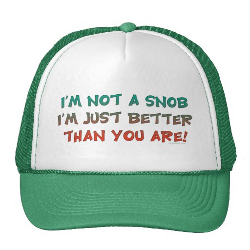 I'm Not a Snob Insulting Humor Mesh Hat