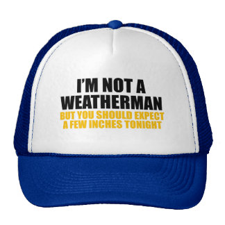 I'm Not A Weatherman Cap