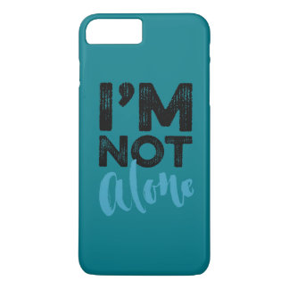 I'm Not Alone - Hand Lettering Typography Design iPhone 7 Plus Case