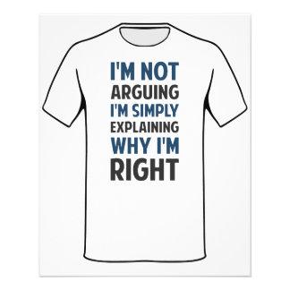 I'm Not Arguing I'm Explaining 11.5 Cm X 14 Cm Flyer