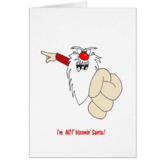 Im NOT Bloomin Santa Christmas Card