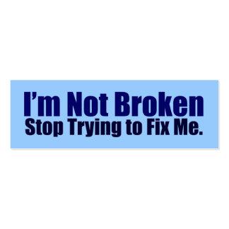 I'm Not Broken Activist Cards Business Cards