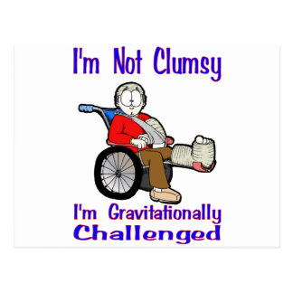 I'm Not Clumsy Postcard