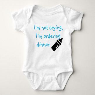 I'm Not Crying I'm Ordering Dinner blue Baby Bodysuit