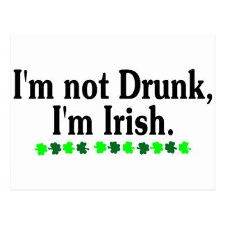 Im Not Drunk Im Irish 2 Postcard