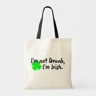 Im Not Drunk Im Irish 4 Leaf Clover Canvas Bag