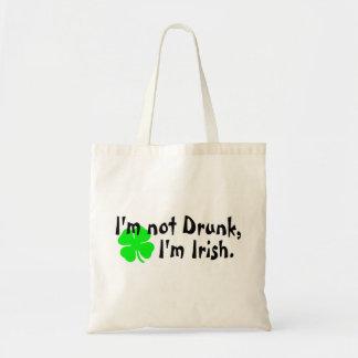 Im Not Drunk Im Irish 4 Leaf Clover Bags