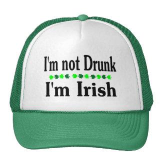 Im Not Drunk Im Irish Clovers Hats