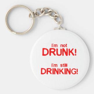 I'm Not Drunk, I'm Still Drinking - Funny Comedy Basic Round Button Key Ring