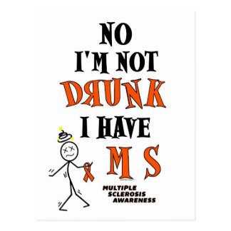 I'm Not DRUNK...MS Postcard