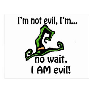 I'm Not Evil Postcard