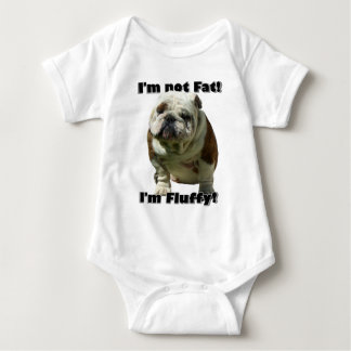 I'm not fat Bulldog baby Baby Bodysuit