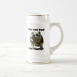 I'm not fat bulldog beer stein
