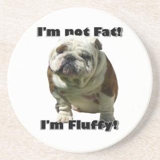 I'm not fat bulldog coaster