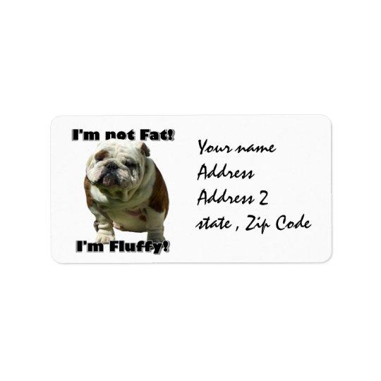 I'm not fat bulldog label