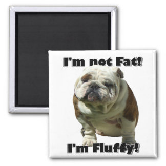 I'm not fat Bulldog magnet